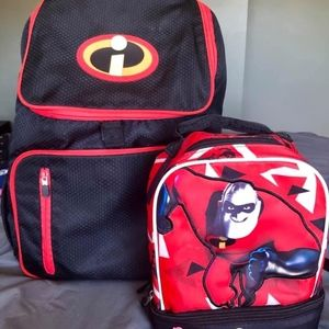 Disney Incredibles 2 Backpack and lunchbox combo